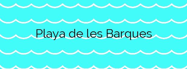 Información de la Playa de les Barques en Sant Pol de Mar