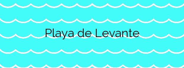 Información de la Playa de Levante en La Línea de la Concepción