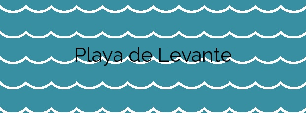 Información de la Playa de Levante en Salou