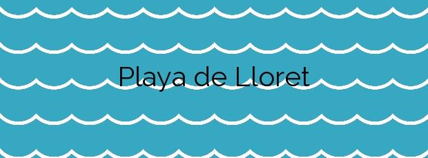 Información de la Playa de Lloret en Lloret de Mar