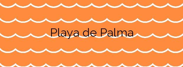Información de la Playa de Palma en Palma de Mallorca