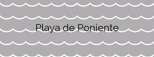Información de la Playa de Poniente en Salou