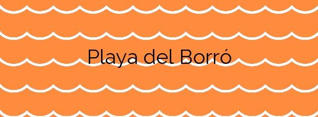 Información de la Playa del Borró en Colera