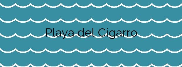 Información de la Playa del Cigarro en Águilas