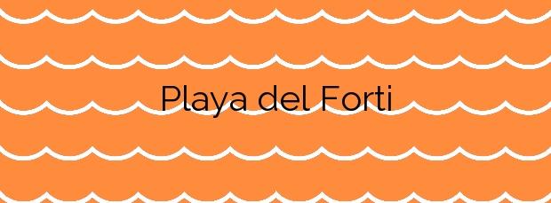 Información de la Playa del Forti en Vinaròs
