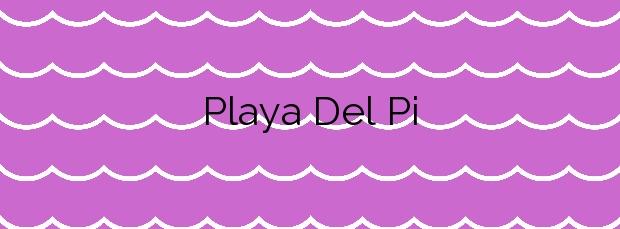 Información de la Playa Del Pi en Portbou