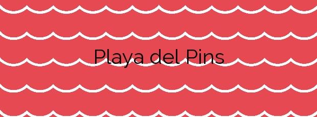 Información de la Playa del Pins en Pineda de Mar