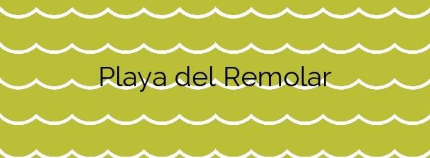 Información de la Playa del Remolar en Viladecans