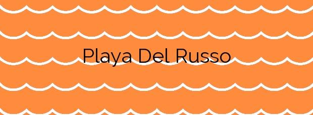 Información de la Playa Del Russo en Peñíscola