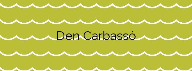 Información de la Playa D'en Carbassó en Colera
