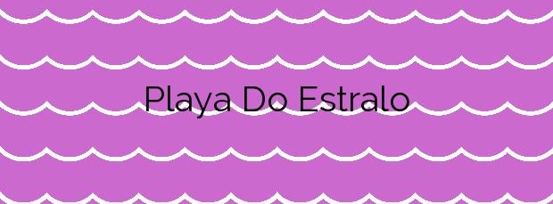 Información de la Playa Do Estralo en Vilaboa