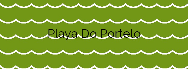 Información de la Playa Do Portelo en Oleiros