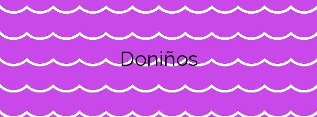 Información de la Playa Doniños en Ferrol