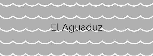 Información de la Playa El Aguaduz en Cudillero