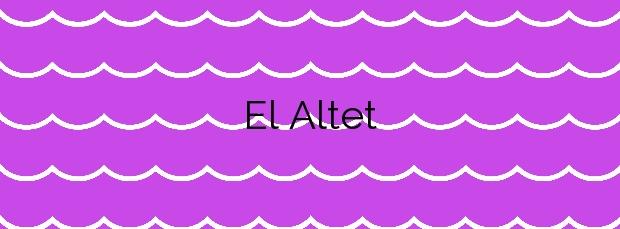 Información de la Playa El Altet en Elche
