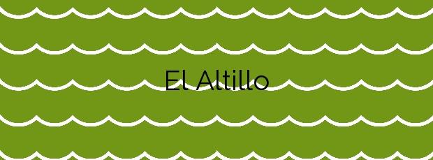 Información de la Playa El Altillo en Moya