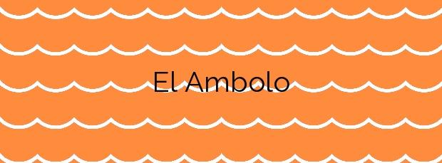 Información de la Playa El Ambolo en Xàbia