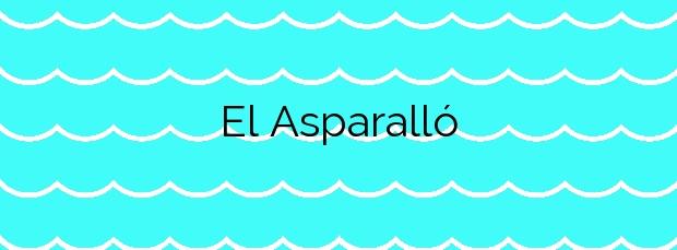 Información de la Playa El Asparalló en Villajoyosa