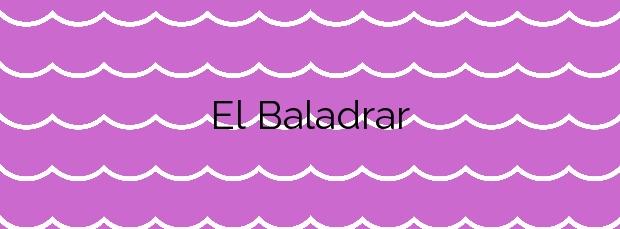 Información de la Playa El Baladrar en Benissa