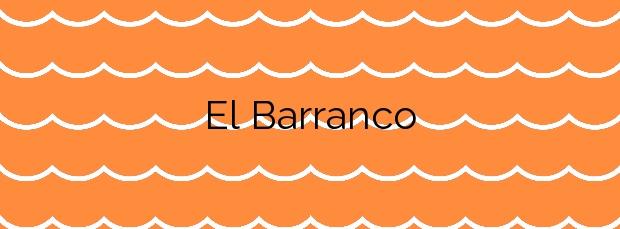 Información de la Playa El Barranco en San Miguel de Abona