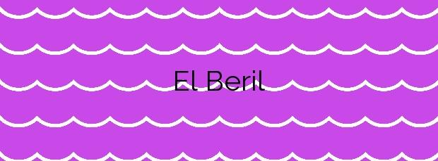 Información de la Playa El Beril en Adeje