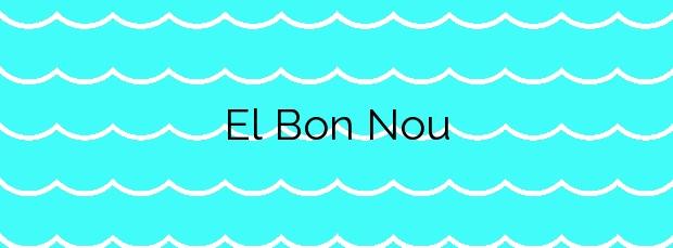 Información de la Playa El Bon Nou en Villajoyosa