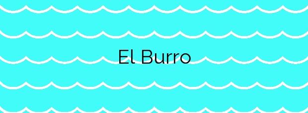 Información de la Playa El Burro en Santa Cruz de Tenerife