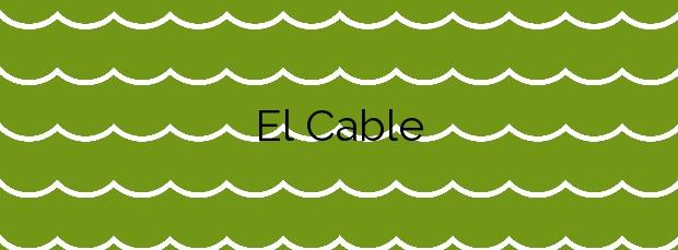 Información de la Playa El Cable en Marbella
