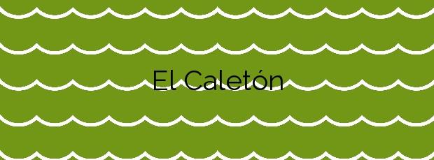Información de la Playa El Caletón en Arico