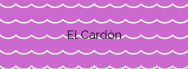 Información de la Playa El Cardón en San Bartolomé de Tirajana