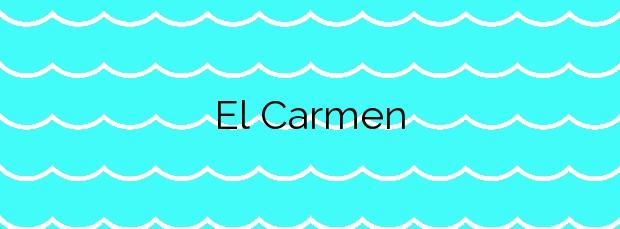Información de la Playa El Carmen en Barbate