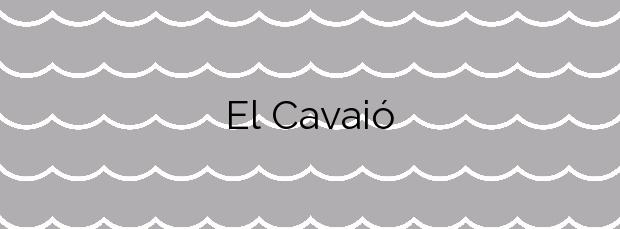 Información de la Playa El Cavaió en Canet de Mar