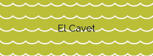 Información de la Playa El Cavet en Cambrils