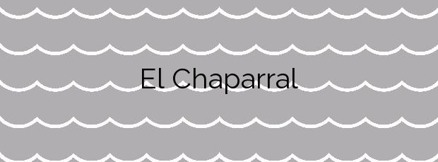 Información de la Playa El Chaparral en Mijas
