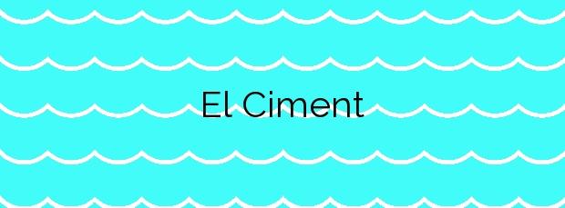 Información de la Playa El Ciment en Alcanar