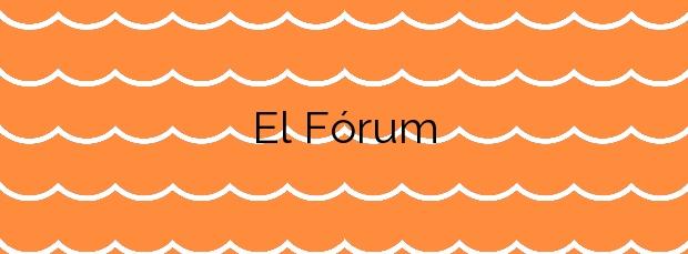 Información de la Playa El Fórum en Sant Adrià de Besòs