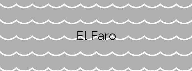 Información de la Playa El Faro en Sant Carles de la Ràpita