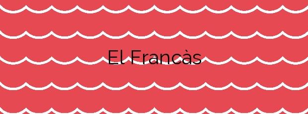 Información de la Playa El Francàs en Roda de Barà