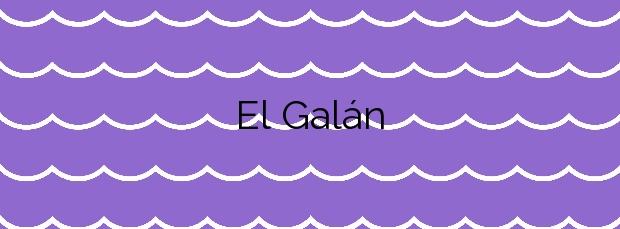 Información de la Playa El Galán en San Javier