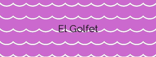 Información de la Playa El Golfet en Palafrugell
