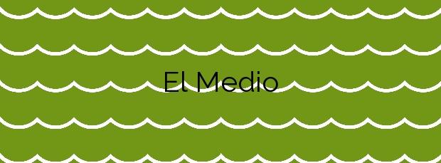 Información de la Playa El Medio en Granadilla de Abona
