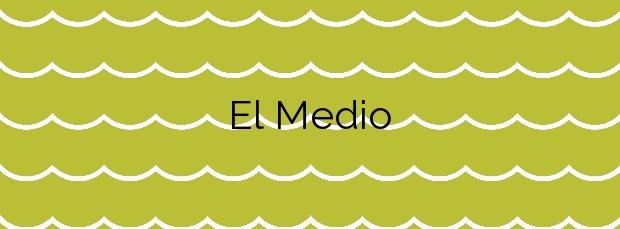Información de la Playa El Medio en San Sebastián de la Gomera