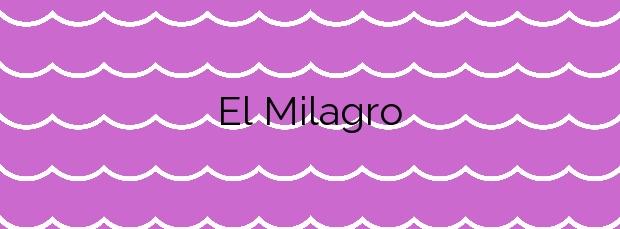 Información de la Playa El Milagro en Tarragona