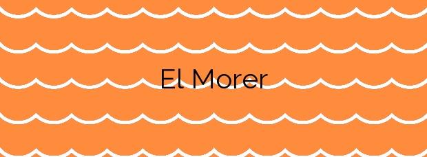 Información de la Playa El Morer en Sant Pol de Mar