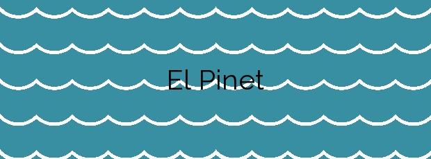Información de la Playa El Pinet en Elche