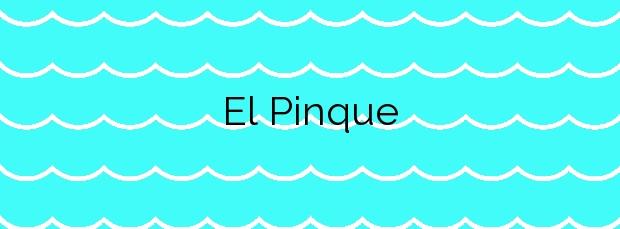 Información de la Playa El Pinque en Adeje