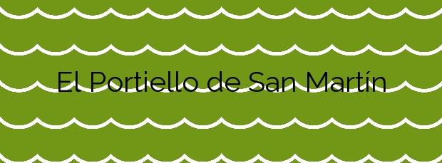 Información de la Playa El Portiello de San Martín en Llanes
