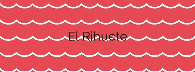 Información de la Playa El Rihuete en Mazarrón