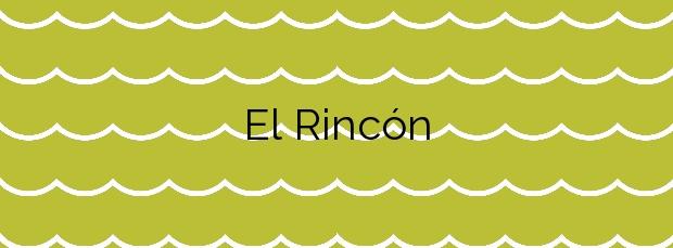 Información de la Playa El Rincón en Mazarrón