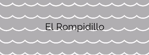 Información de la Playa El Rompidillo en Rota